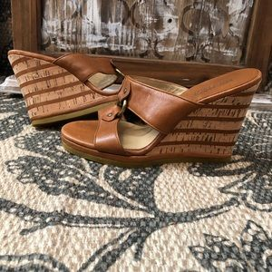 Michael Kors• Wedge Heels. Brown Leather• 6M
